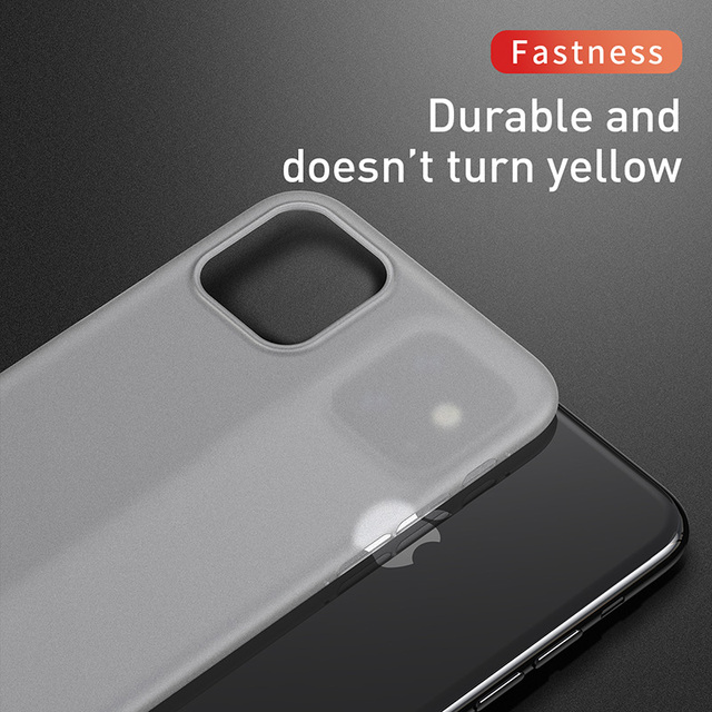 Baseus 0.4mm Super Thin Phone Case For iPhone 11 Case Coque 11 Pro Back Cover PP Coque Fundas for iPhone 11 Pro MAX Case Capa XS 4