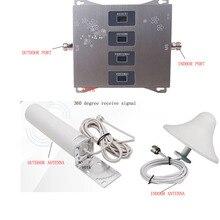 Amplificateur de SIGNAL à quatre bandes VOTK 2G 3G 4G répéteur de signal Celluar à trois bandes 800 900 1800 2100 amplificateur de signal avec antenne OMNI