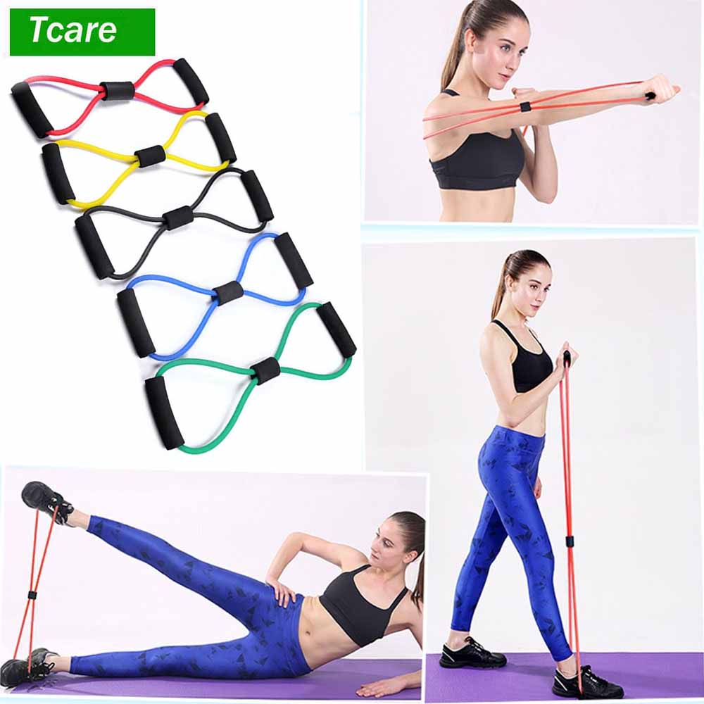 1Pcs Body Massage Relaxation Yoga Stretching Strap Resistance Bands Stretching Strap Yoga Elastic Pull Rope Chest Expander