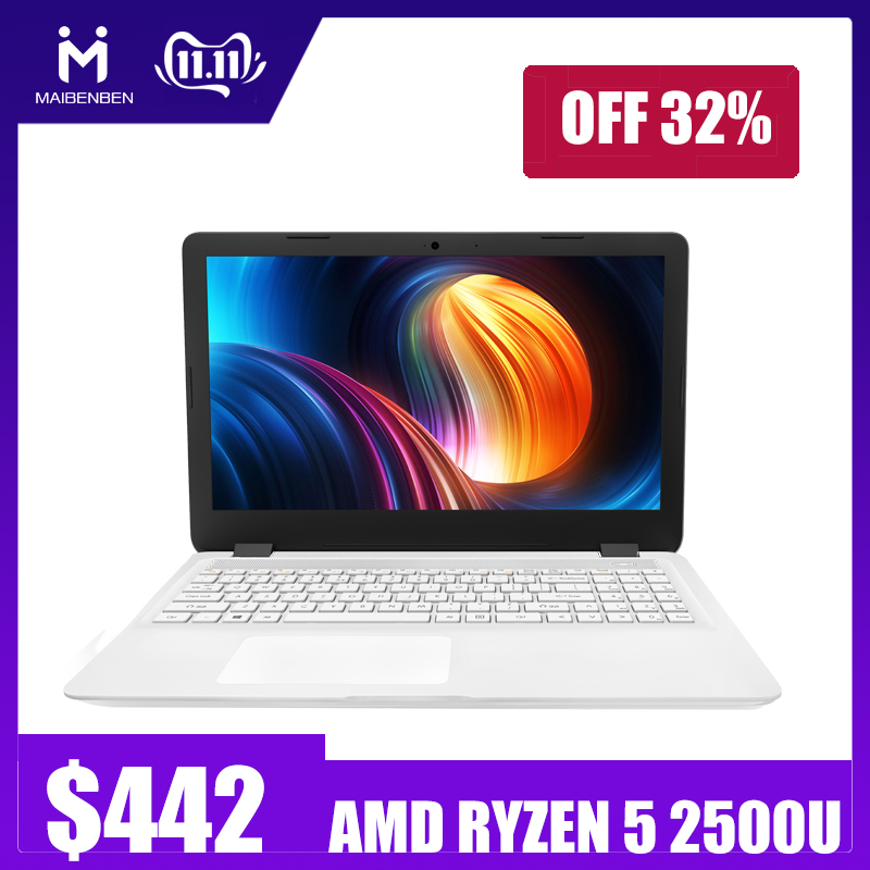 "MaiBenBen DaMai E527 For Office Laptop AMD Ryzen5 2500U+AMD Radeon Vega 8 Graphics/8G RAM/16G RAM/256G SSD+1TB HHD/15.6"" HD ADS"