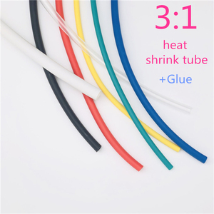 heat shrink tube 1M 1.6/2.4/3.2/4.8/6.4/7.9/9.5mm Dual Wall thick Glue 3:1 ratio Shrinkable Tubing Adhesive Lined Wrap Wire kit(China)