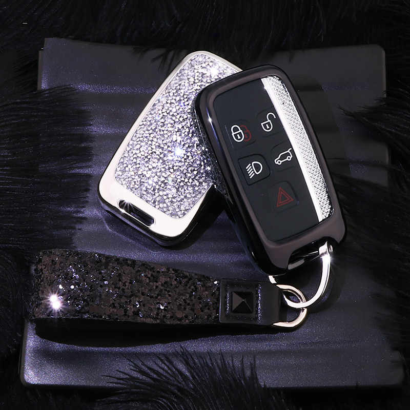 Mode Luxus Diamant Kristall Glänzende Auto Schlüssel Fall Abdeckung Für Land Rover A9 Range Rover Sport Evoque Freelander 2 Auto schlüssel Shell
