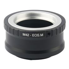 Adjustable M42 Lens to for Canon EOS M M2 M3 EF-M Mirrorless Camera Adapter Ring mcoplus 12mm f 2 8 manual ultra wide angle lens aps c for canon eos ef m mount mirrorless camera eos m eos m2 eos m10 eos m3