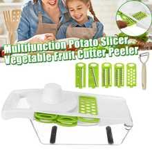 5Blades Multifunctional Vegetable Cutter Fruit Tool Potato Masher Ricer Vegetable slicer Peeler Cutter Carrot Shredder Grater