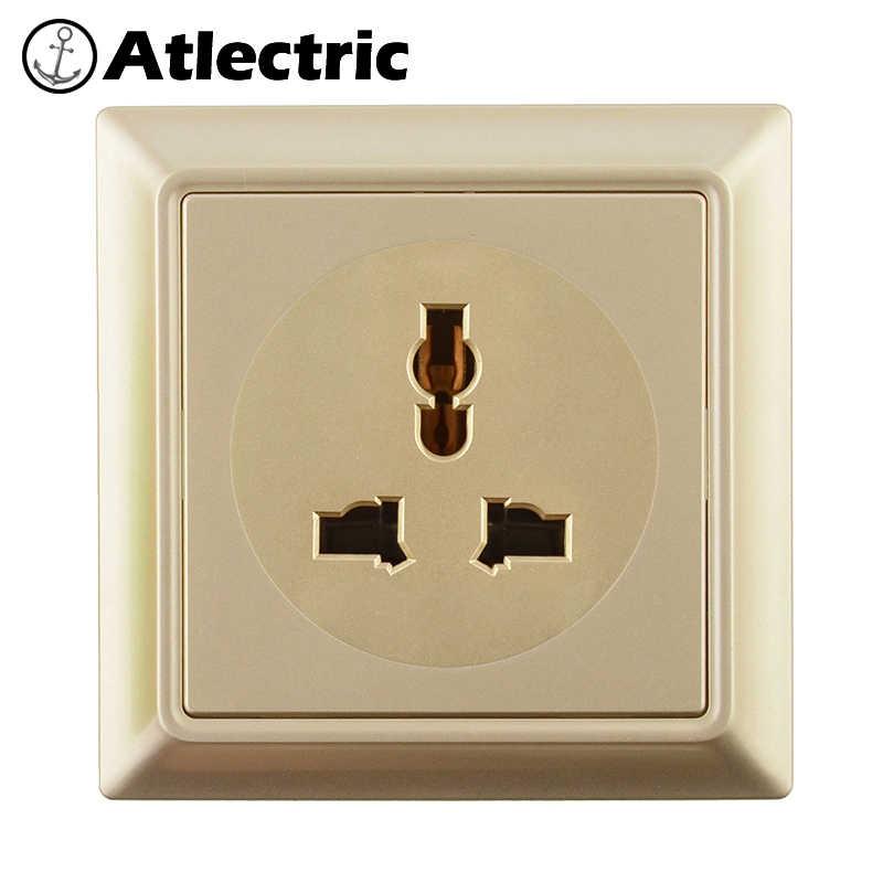 Atlectric Универсальный UK IRL MYS SGP Стандартный Штекерный разъем USB порт для зарядки для мобильных розеток ПК Ретро панель