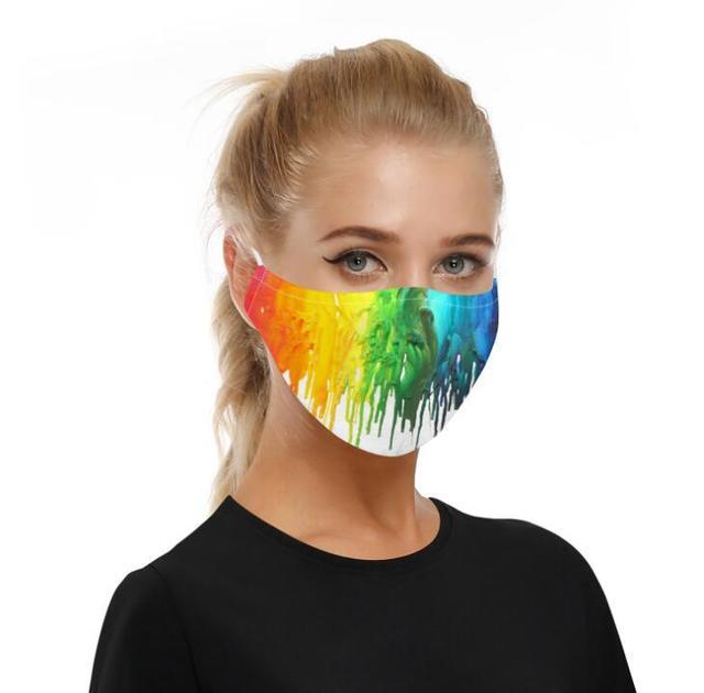 New Adult Mouth Mask Adjust belt Free 2pcs mask filter Big Boy Girl Windproof Washable proof Flu Face masks Care Five layers 5