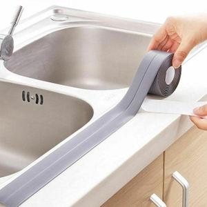 Image 4 - 2021 łazienka prysznic zlew wanna taśma uszczelniająca taśma biała PVC samoprzylepna wodoodporna naklejka ścienna do łazienki kuchnia
