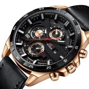 Samco-relojes para hombre, de cuarzo, militar, de cuero, resistente al agua, deportivo