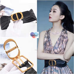 Nuleez Mode Riem Vrouwen Koe Huid Cumberbanden Modern Design Beroemde Ster Dragen Luxe Jurk Accessoire