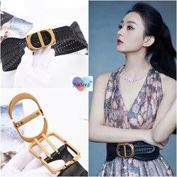 Nuleez fashion belt women cow skin cummerbunds modern design famous star wearing luxury dress accessory