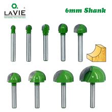 LA VIE 5 stuks of 4 stuks 6mm Shank Ball Neus Frezen Set Frees Ronde Cove Box vhm CNC Radius Core Frezen Bit MC0602