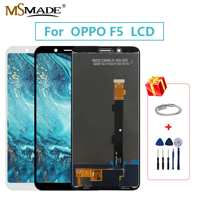 Original LCD For <font><b>OPPO</b></font> <font><b>F5</b></font> LCD <font><b>Display</b></font> Sreen Touch Digitizer Replacement Assembly Parts Free Tools Free Shipping 100%Tested image
