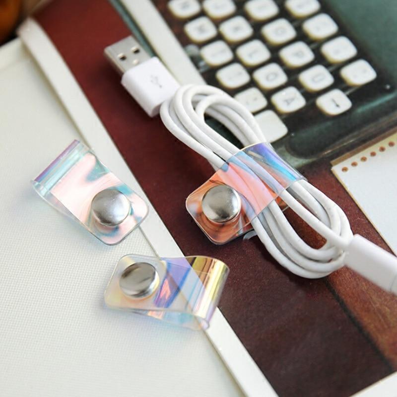 Кабельный органайзер, мобильный сетевой кабель для передачи данных, ABS Органайзер с пряжкой для хранения, портативный намоточный провод