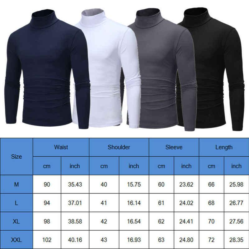 Nowa moda moda męskie rolki Turtle Neck sweter z dzianiny Jumper topy sweter Plus rozmiar