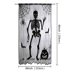 Halloween Kant Spider Bat Patroon Tafelkleed Haard Doek Sjaal Lamp Cover Doek Halloween Deur Gordijn Festival Levert
