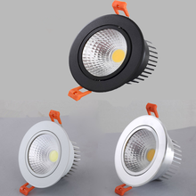 Round Dimmable Downlights5W 7W 9W 12W 15W 18W LED Ceiling lamp recessed COB Ceiling Spot lights ac85-265V LED Indoor Lighting