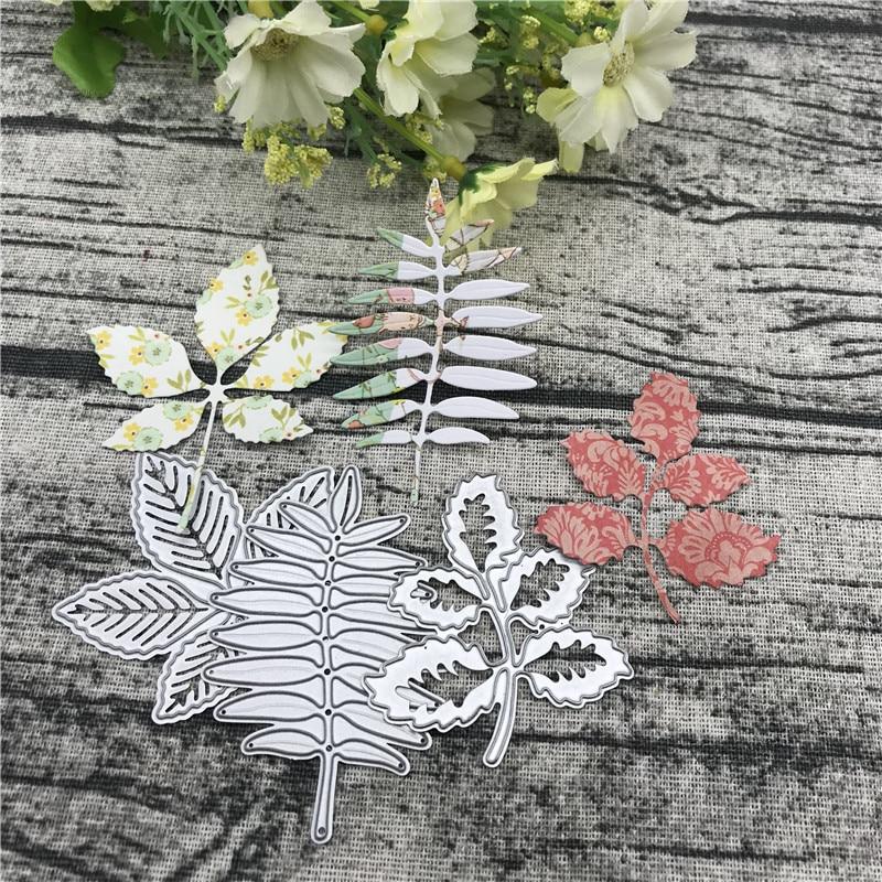 3Pcs Christmas Tree Leaves Metal Cutting Die Die Cut  Scrapbook Paper Craft Handmade Card Album Punch Art Cutter