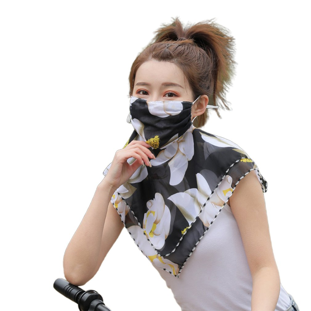 Summer Anti-UV Sunscreen Scarf Large Mouth Mask Neck Protection Thin Breathable Face Masks Full Face