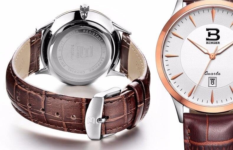 Super fino relógio de pulso moda estilo