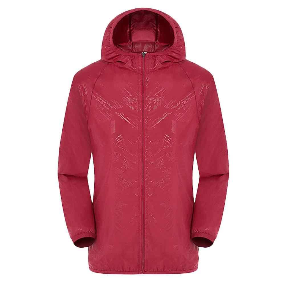 Womail מעיל גברים של נשים מזדמן הגנה מפני שמש בגדי מעילי Windproof קל במיוחד אטים לגשם רוח Dropship May28