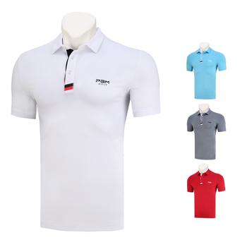 Koszulka golfowa męska koszulka 2020 nowa odzież PGM sportowa koszulka Polo koszulka z krótkim rękawem letnia odzież konkurs drużyna Golf odzież tanie i dobre opinie Poliester Pasuje prawda na wymiar weź swój normalny rozmiar Oddychające y184 Jodełkę