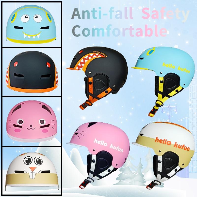 Детский лыжный шлем для взрослых, профессиональное оборудование для катания на лыжах, сноуборде, защитное снаряжение, теплый и безопасный м...