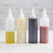 8 унций 16 унций пластиковые бутылки для выдавливания с герметичной белой крышкой идеально подходят для масла, приправ, одевания, краски, рукоделия с воронкой