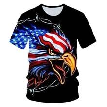 2019 New Cool USA Flag Eagle T-shirt Boys Girl 3d Tshirt Print American Men Summer Tops Tees Teenagers Clothing Kid