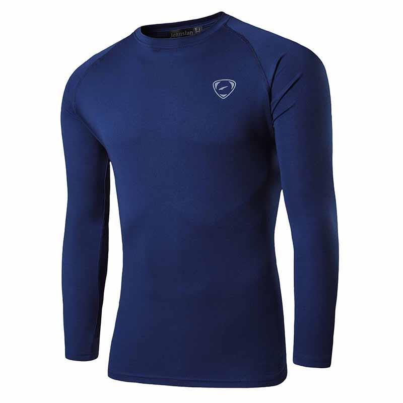 Jeansian Men's UPF 50+ UV Sun Protection Outdoor Long Sleeve Tee Shirt Tshirt T-Shirt Beach Summer LA245 Navy2