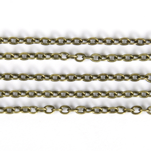 5 Meter 1.5 2.0 2.5mm Oval Link Chains For Jewelry Making DIY Supplies Necklace Bracelet Chain Findings