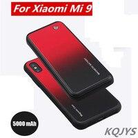 KQJYS 5000mAh 무선 마그네틱 모바일 배터리 충전 Xiaomi Mi 9 휴대용 프리미엄 예비 배터리 Xiaomi Mi 9