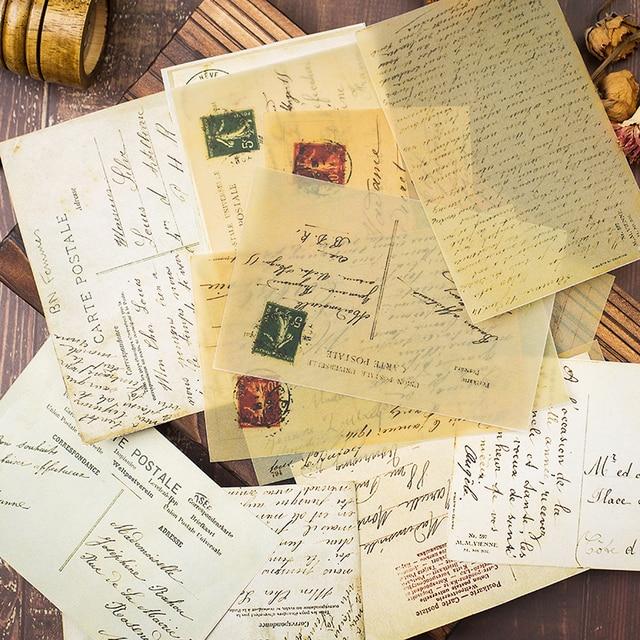 16 قطعة خمر القديم إلكتروني كبير حجم المواد ورقة DIY سكرابوكينغ ألبوم يوميات مشروع صنع سعيد التخطيط ورق زينة