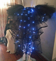circus tron led costume robot ropa led clothing dress clothes traje led wings women halloween costume holographic led dance wear