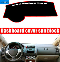 For Honda Fit Jazz 2004-2007 Dashboard Cover Mat Dash Pad Anti-UV Sun Shade Auto Instrument Cover Carpet Car Styling Accessories