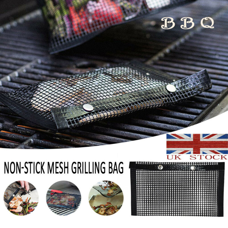 New Fashion Stainless Steel BBQ Bags Barbecue Grill Mat Mesh Wire Net Outdoor Cooking Tools