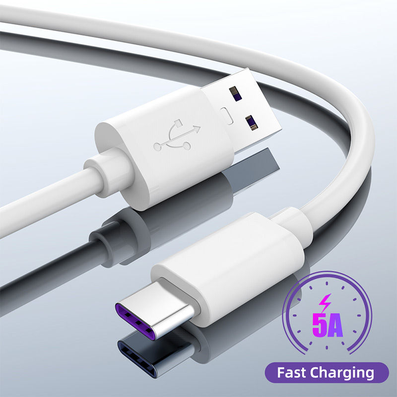 SuperCharge 5A 3A <font><b>USB</b></font> C Charger Type C <font><b>USB</b></font> Cable <font><b>0.25</b></font> 0.5 1.5 2M Quick Charge 3.0 Fast Charging Tape C Cable for Huawei Phones image