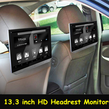 13.3 Inch Android 2+16G Car Headrest Monitor 1920*1080 4K 1080P IPS Touch Screen WIFI/Bluetooth/USB/SD/HDMI/FM MP5 Player