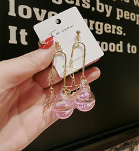 New Korean Fashion Women Dangle Earrings Accessories Glass Water Polo Bubble Double Star Colorful Drop Earring Party Jewelry 2019 new jewelry fashion wolf cute cat design party hook earring colorful round drop earrings accessories for women pretty gift