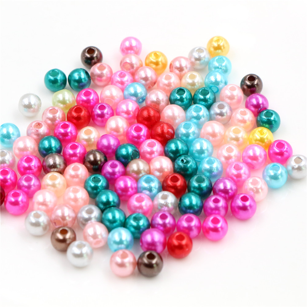 Hot Sale 300pcs 5MM Mixed Color Fashion Bright Candy Color Acrylic Pears Spacer Loose DIY Bracelets & Necklaces Making-Z4-14