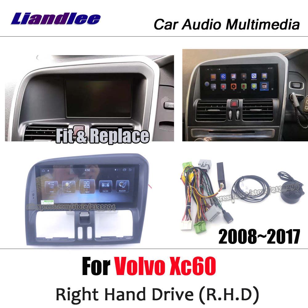 Car Multimedia Player For <font><b>Volvo</b></font> <font><b>XC60</b></font> Right Hand Drive RHD 2008~2017 android radio <font><b>accessories</b></font> Carplay Map GPS Navi Navigation image