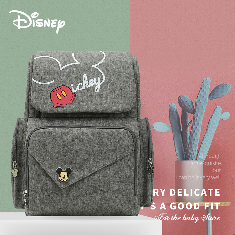Disney  Diaper Bag With Usb Mummy Bag Mickey Mouse Bag  Zipper Multi-functional Maternal And Child Bag Wetbag  Travel Backpack