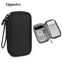 Estuche organizador de armario de viaje para Almacenamiento de auriculares, bolsa portátil Digital con cremallera, accesorios, cargador de Cables de datos
