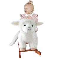 Baby Rocking Horse Kid Ride On Toy Cute Lion Shape for Boy Girl Plush Animal Rocker Toddler/Child Stuffed Ride Toy Birthday Gift