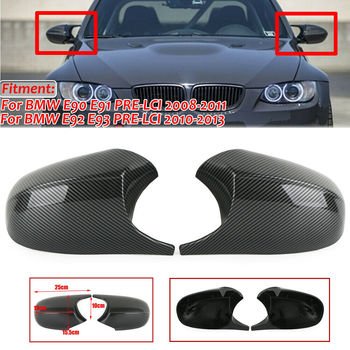 Replacement Rear View Mirror Cap Cover For BMW E90 E91 E92 E93 PRE-LCI Carbon Fiber M3 Style Side Mirror Cover Cap image