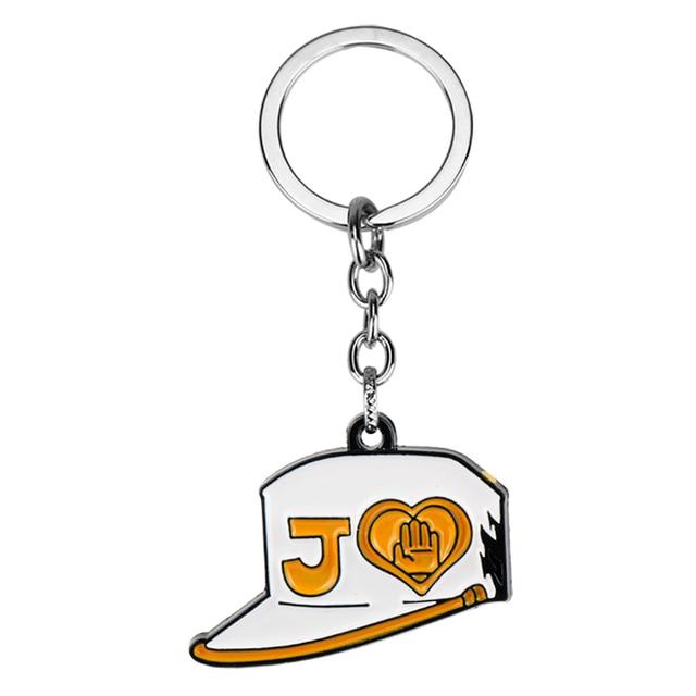 JoJo's Bizarre Adventure Keyring Keychains Anime Killer Queen Bow Arrow Metal Key Chains Josuke Jotaro Higashikata Kujo Necklace 2