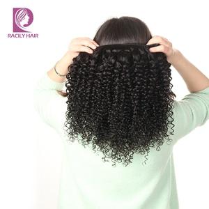 Image 5 - Racily Hair 1/3/4 Pcs Brazilian Kinky Curly Hair Bundles Human Hair Extensions Natural Black Remy Hair Weave 8 28 Inches Bundles