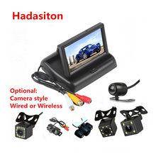 Monitor de aparcamiento inverso para coche, pantalla LCD TFT de 4,3 pulgadas, con entrada de vídeo de 2 canales, cámara opcional