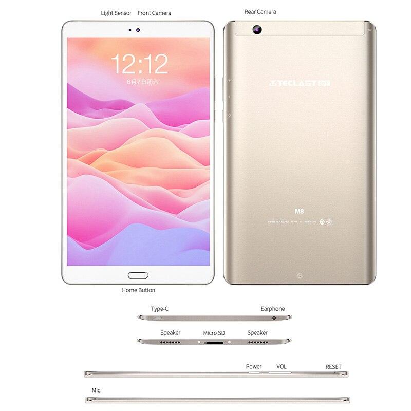 Купить с кэшбэком Teclast M8 8.4 inch  2560x1600 Quad Core 4K Video G-Sensor Tablets 3GB RAM 32GB ROM Wifi Dual Camera Android Tablet