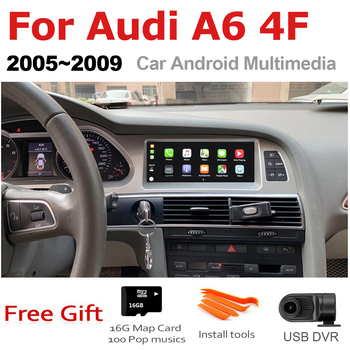 цена на TBBCTEE Car Android For Audi A6 4F 2005 2006 2007 2008 2009 MMI 2G 3G GPS Navigation Radio Android Auto Hi-Fi Multimedia player