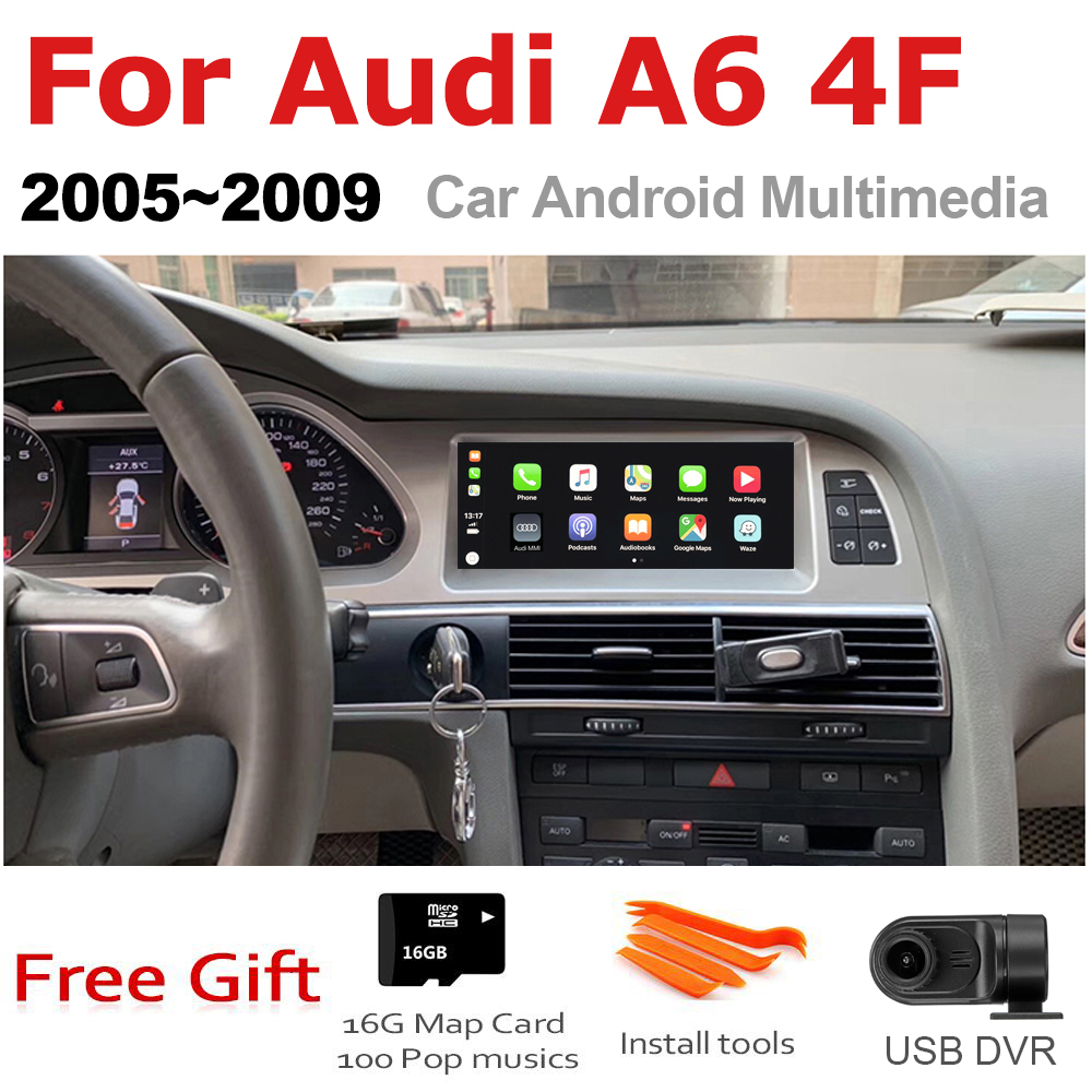 TBBCTEE Car Android For Audi A6 4F 2005 2006 2007 2008 2009 MMI 2G 3G GPS Navigation Radio Android Auto Hi-Fi Multimedia player image